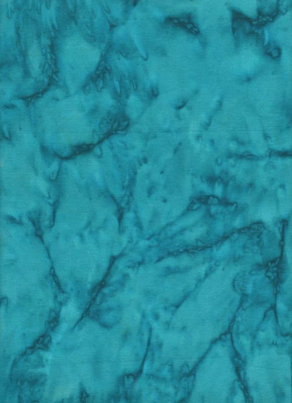 Deep Teal Hand Dyed Batik