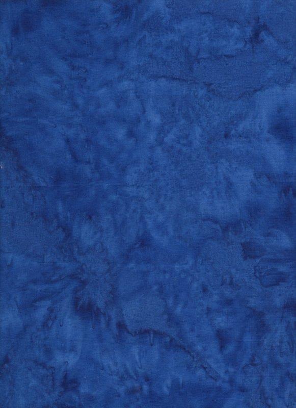 Royal Blue Hand Dyed Batik