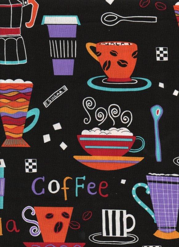 Black Coffee Shop Print