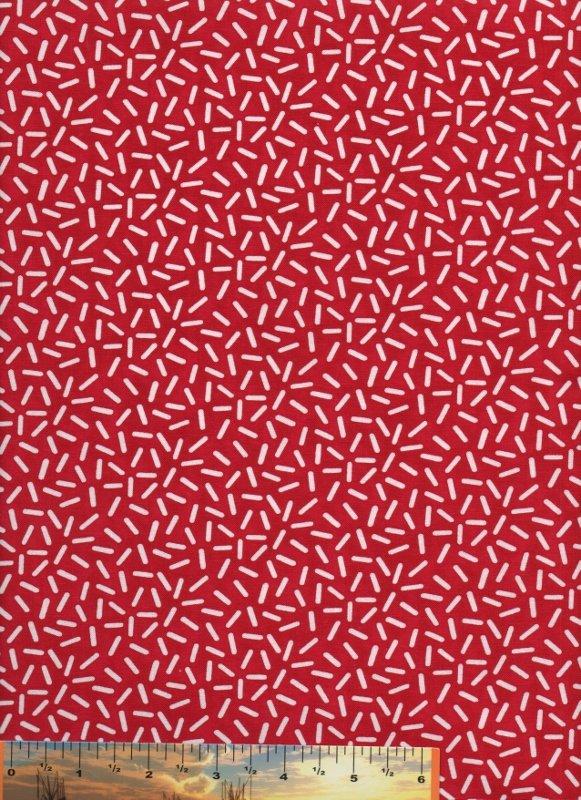 Knick-Knack White Pick-Up Sticks on Red
