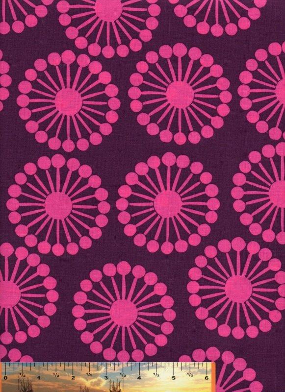 RAJ Hot Pink Wheels on Plum