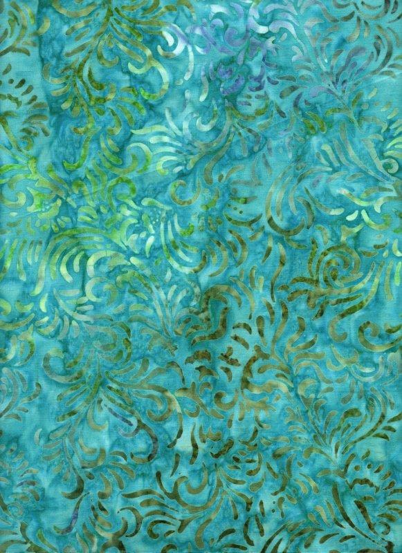 Teal Swirl Batik