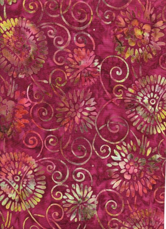 Cranberry Bella Batik print