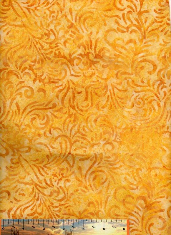 Batavian Flourish Marigold on Yellow