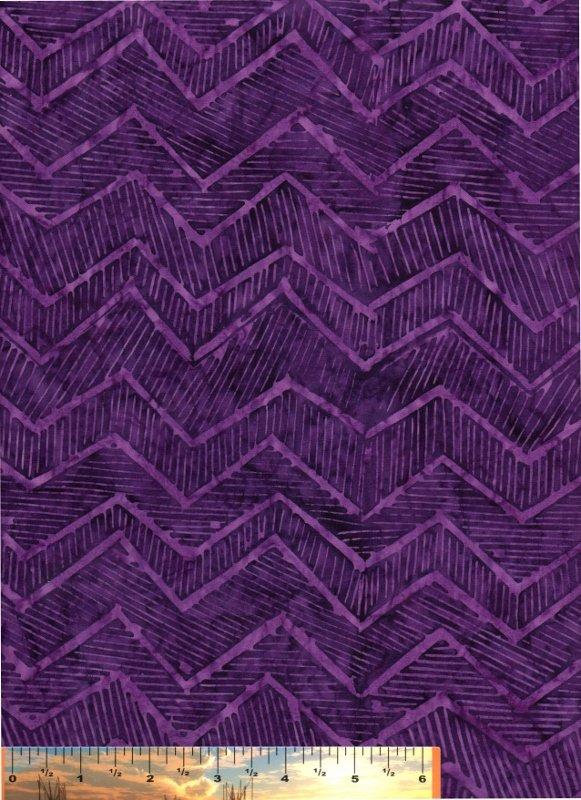 Tonga Deep Violet Zig-Zag Batik Print