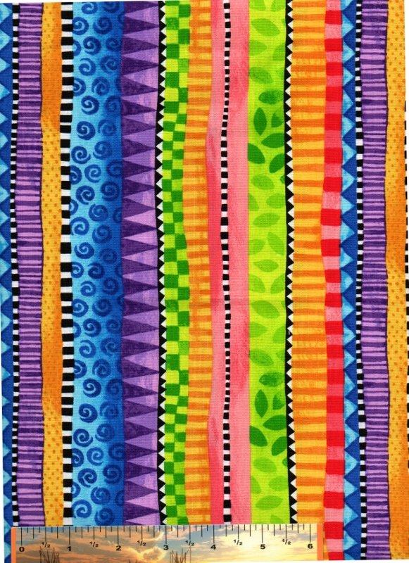 Wondertones Multi-Color Border Stripe