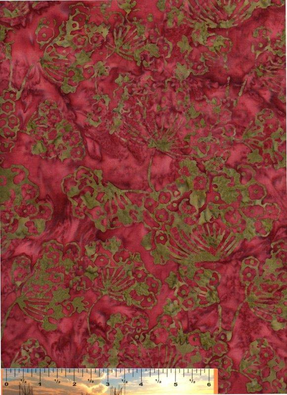 Copper Batik with Milkweed Print