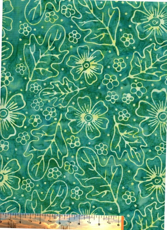 Sea Green Floral Batik