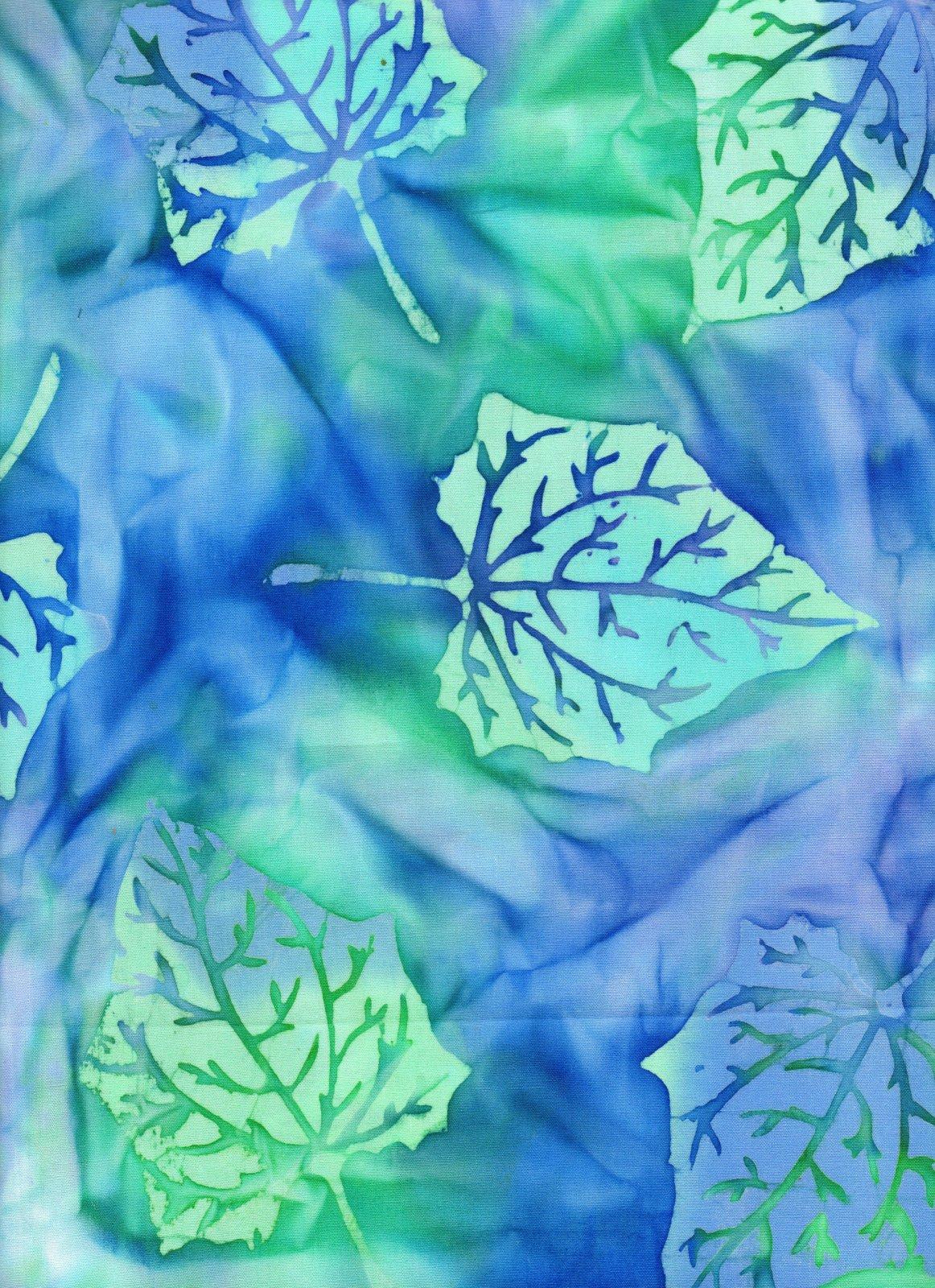 Blue/Green Floral Batik