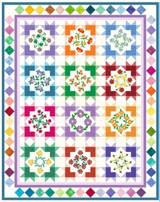 Starburst Blossoms Block of the Month