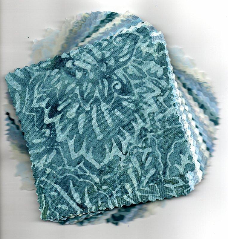 Boys Like Blue Batik Express (c) Charm Pack