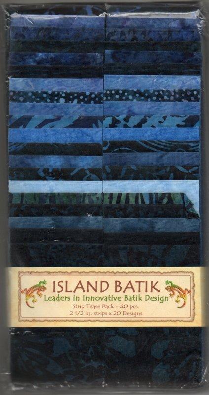 Island Batik Strip Tease Pack - Indigo Nights