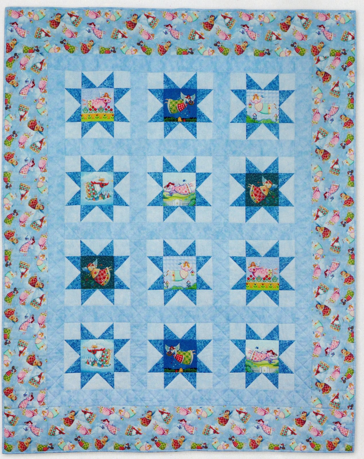Angels in the Stars Lap quilt Kit