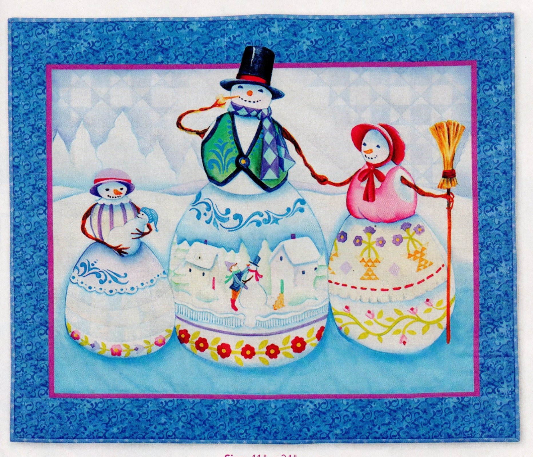 Frosty Family Wall Hanging Kit
