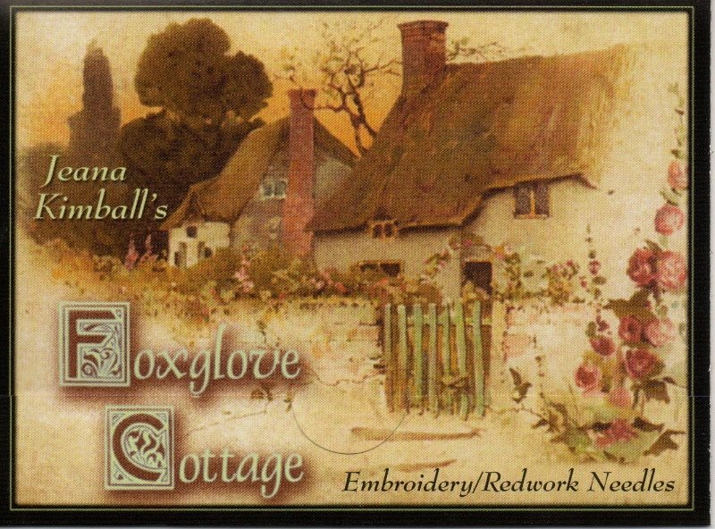 Foxglove Cottage Embroidery Needle Sampler
