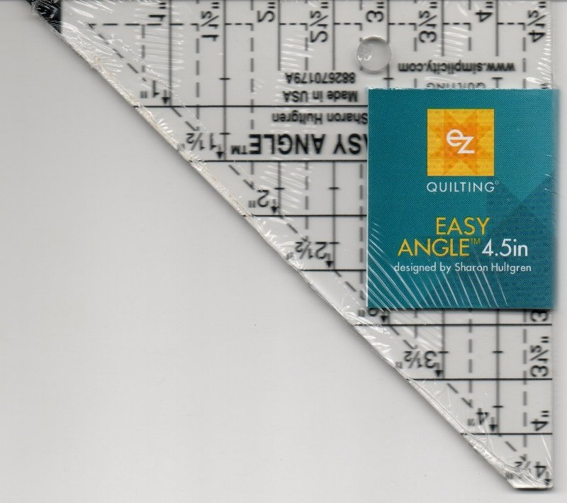 EZ Quilting Easy Angle Ruler 4.5 Inch