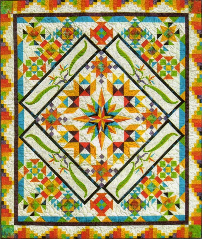 Colorful Tropics Block of the Month
