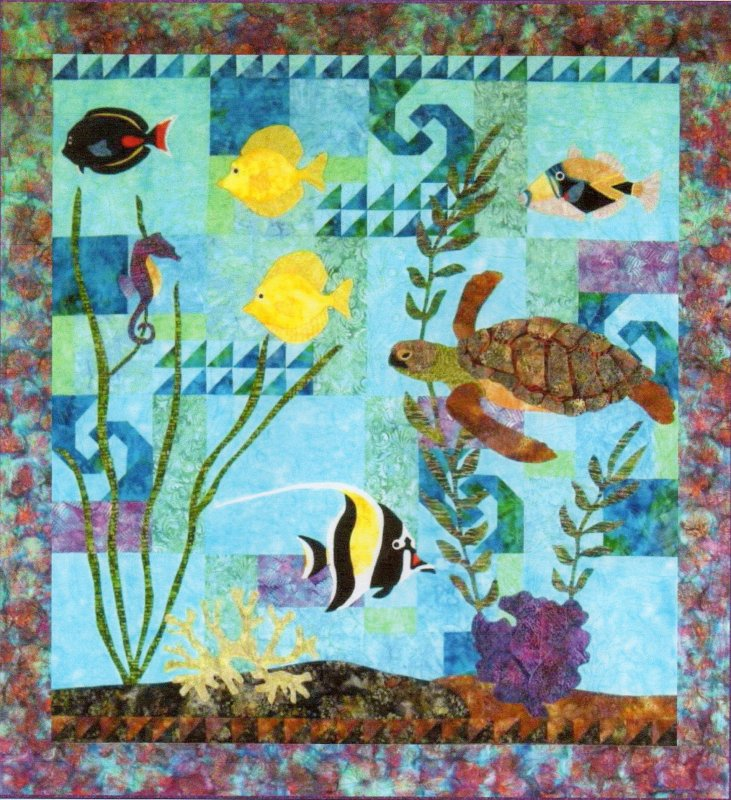 Life on the Reef Wall Quilt Kit