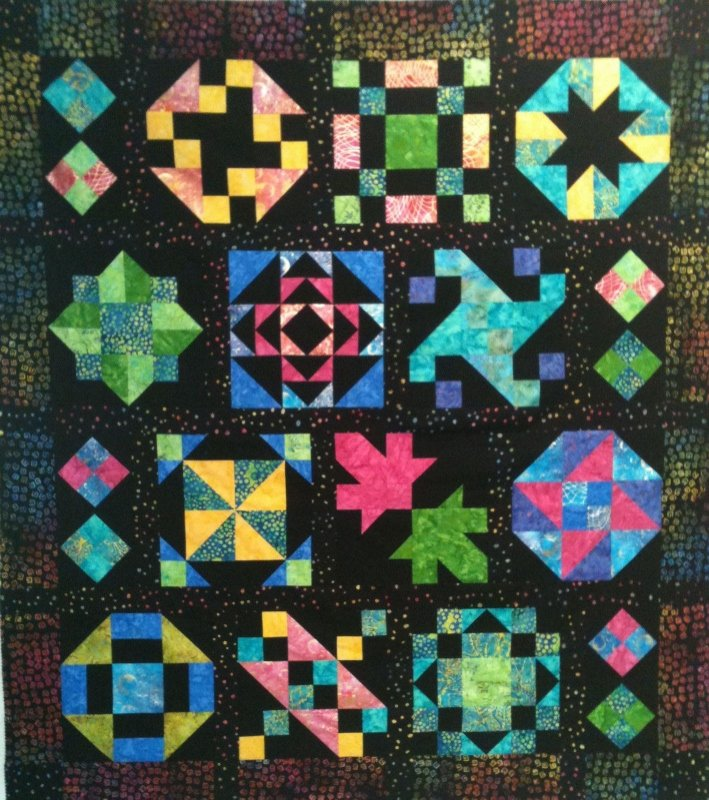 Neon Nights Block of the Month