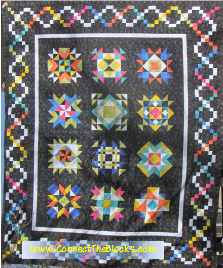 Sparkling Gems Noir Block of the Month