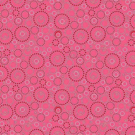 10087-26 Dk Pink Beaded Circles Sunday Ride Benartex
