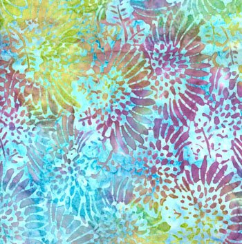 10802-904-H-Packed Daisy - Aruba Garden Batik 112 Wide Backing 3 yards