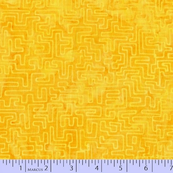 1536-0156-Yellow Orange Radiant Reflections Primo Batiks Marcus