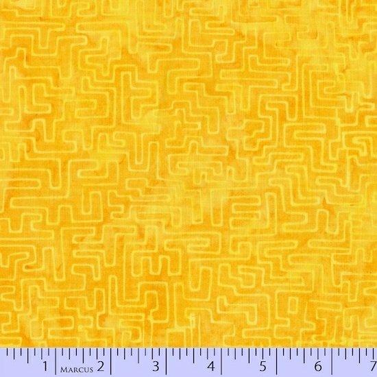 1536-0156-Yellow Orange Radiant Reflections Primo Batiks Marcus