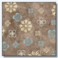 1672-82590-244S Flowers on Brown South Sea Imports