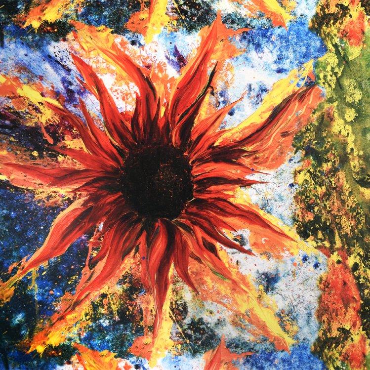 172-0401 Sunflower Paintball Panel Lola Frond Design Studios