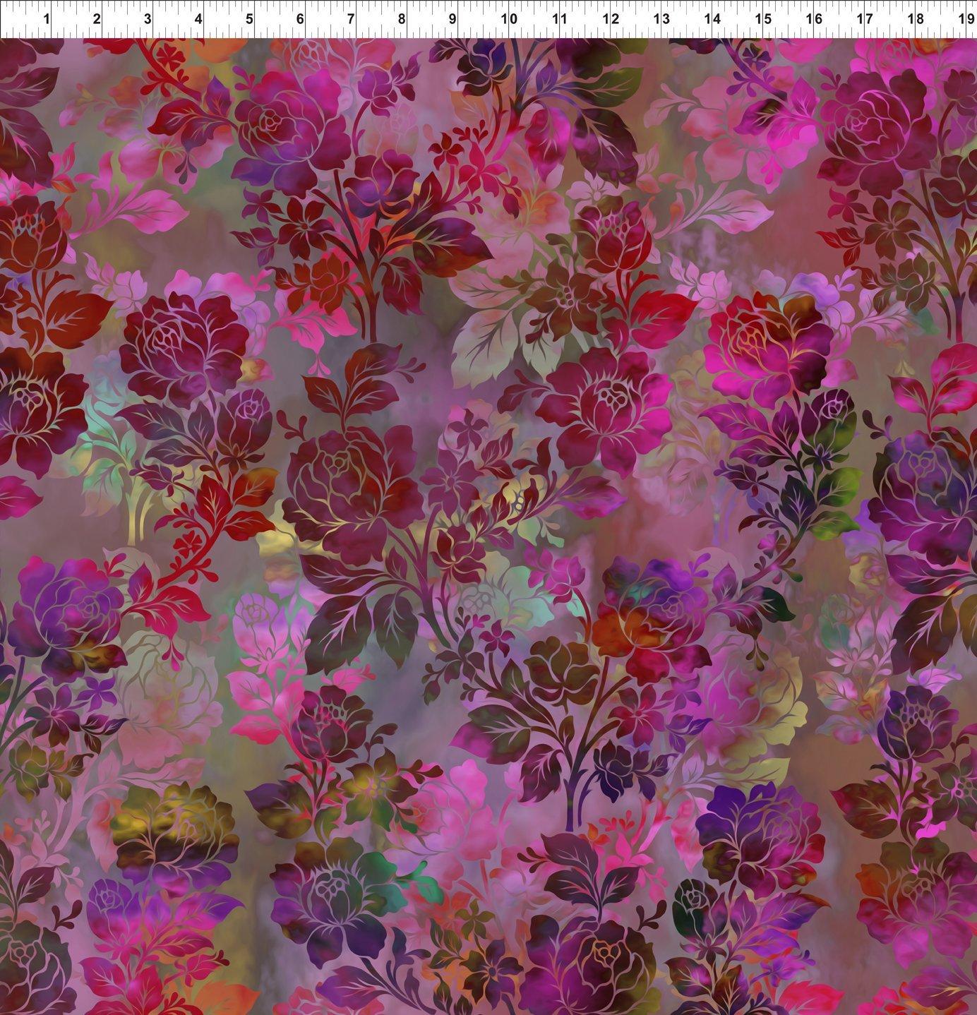 1ENC-5 Magenta Night Bloom Diaphanous