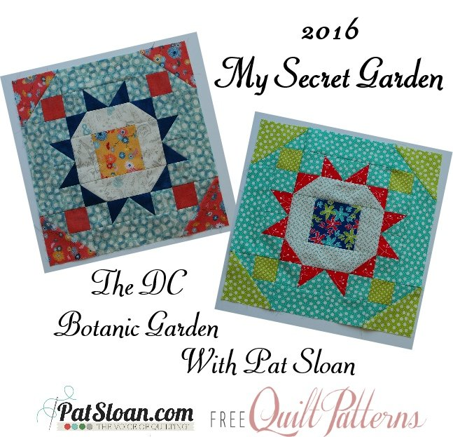 Colorway 2 Pat Sloan's My Secret Garden Mystery Quilt 2016