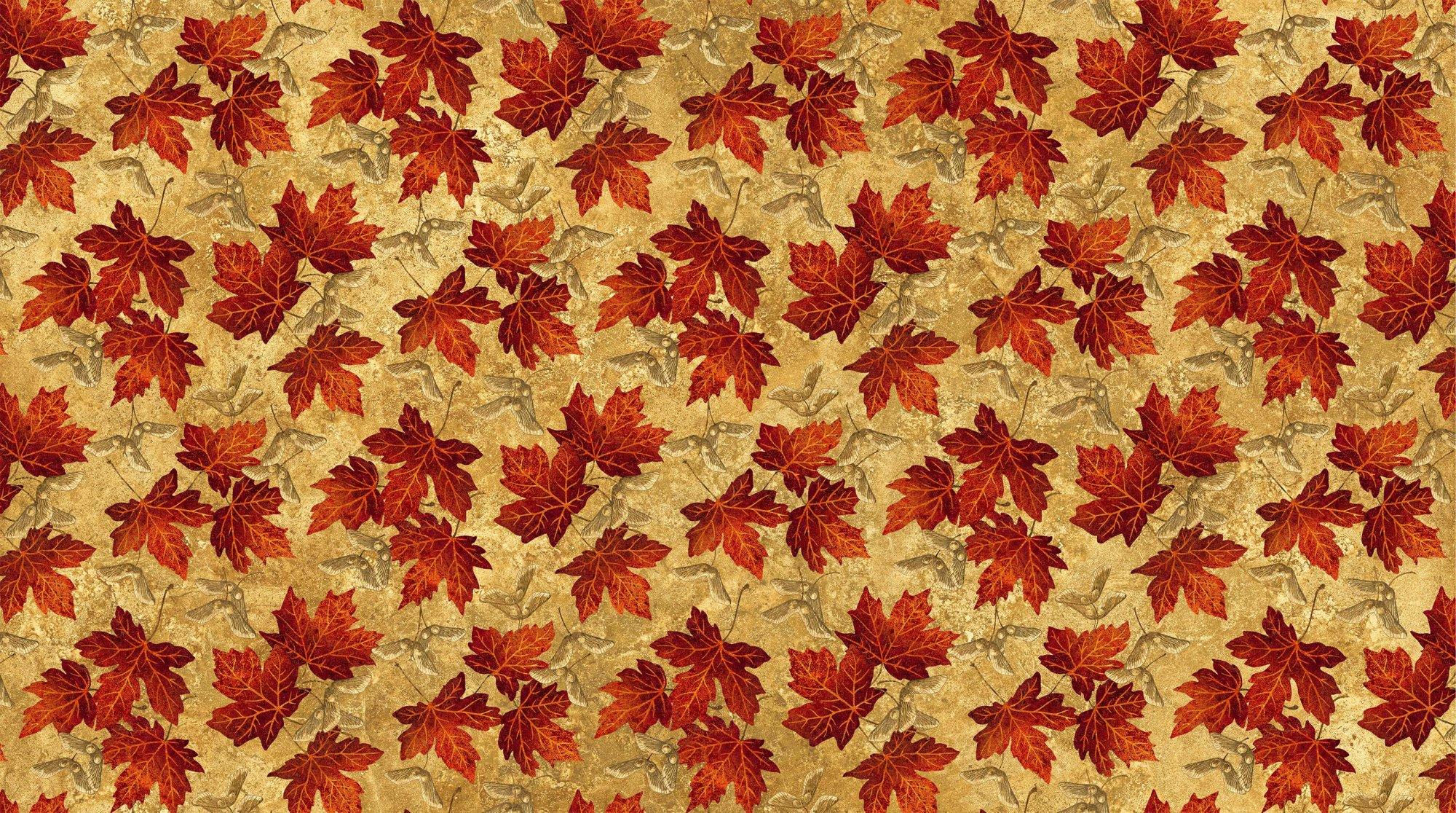 22017-34 Tan w_Lg Red Leaves Maplewood