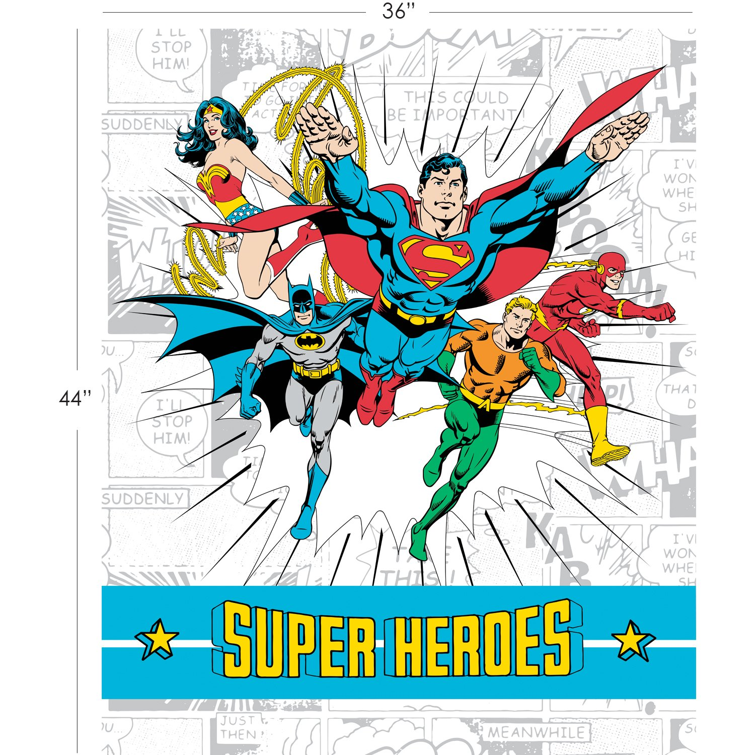 Justice League Quilt Super Hero Backing