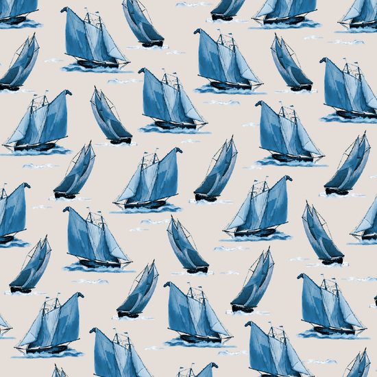 23732-A-Lt Taupe-Sailboats-Sail Away