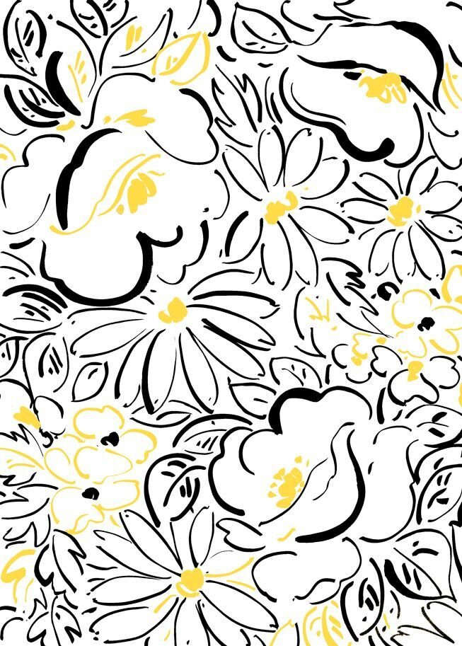 24895-Z White Floral Fiona Quilting Treasures