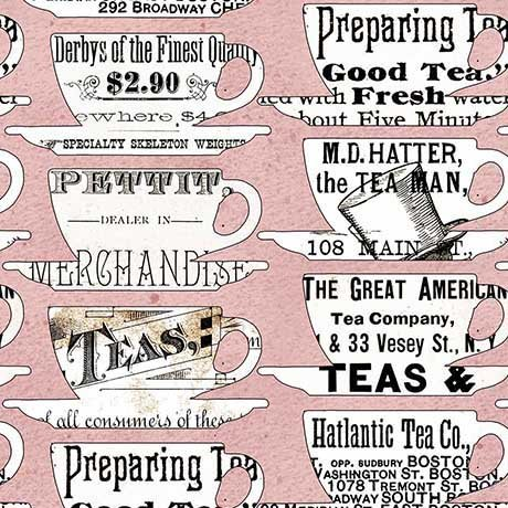 26152 P Pink Tea Cups Hatters Tea Party J Wecker Frisch
