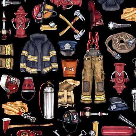 26294 J Black Firefighter Equipment 5 Alarm