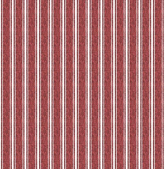 26471 R Red Textured Ticking Fowl Play J Wecker Frisch