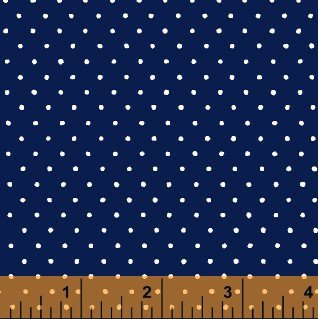 29400-2 Navy w_white dots Windham Basic dots