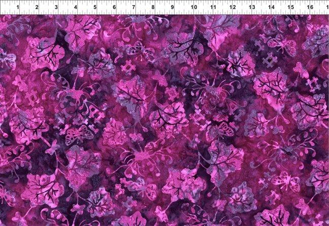 2GBC5-Purple Vine Floragraphix Batik 3 by In The Beginning