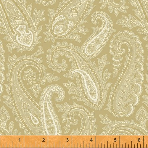 32679-1 Cream Tan Paisley wide Quilt Back by Windham