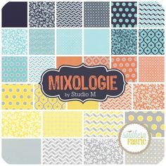 32980AB Mixology Charm Pack Fat Quater