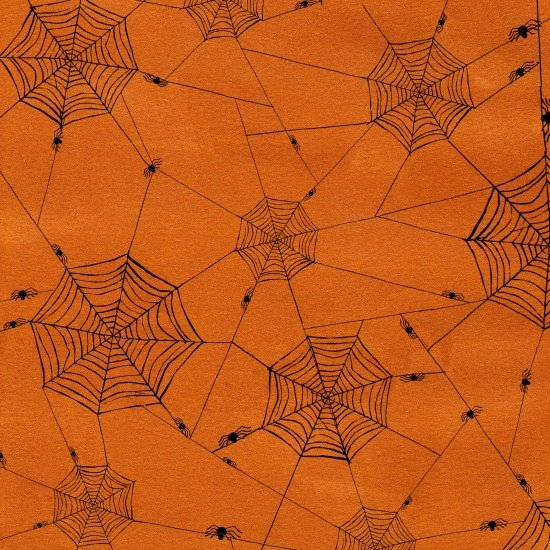 3703-33 Orange Spiderweb Witchy by Studioe