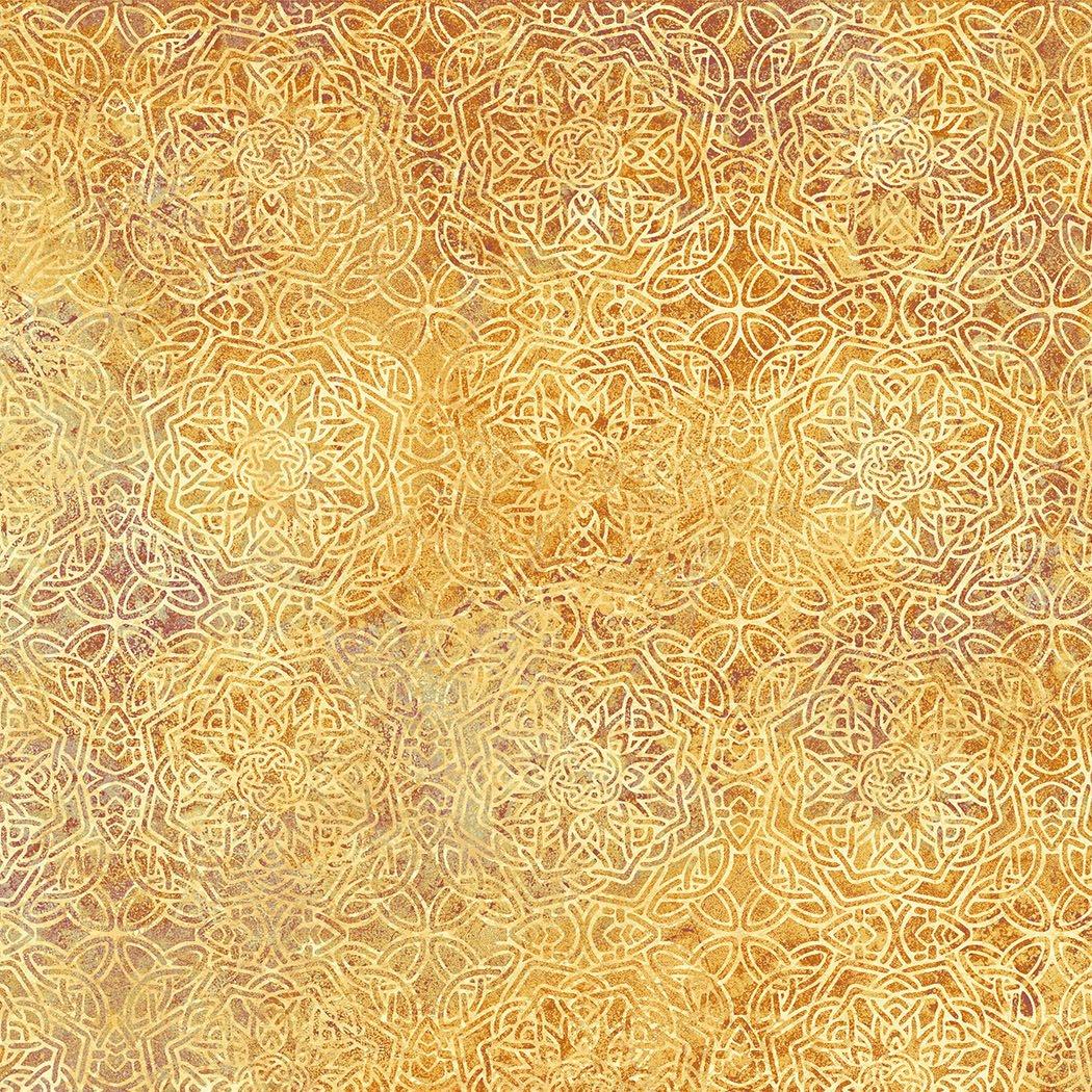 39432-54 Gold Tonal Scroll Solstice Stonehenge