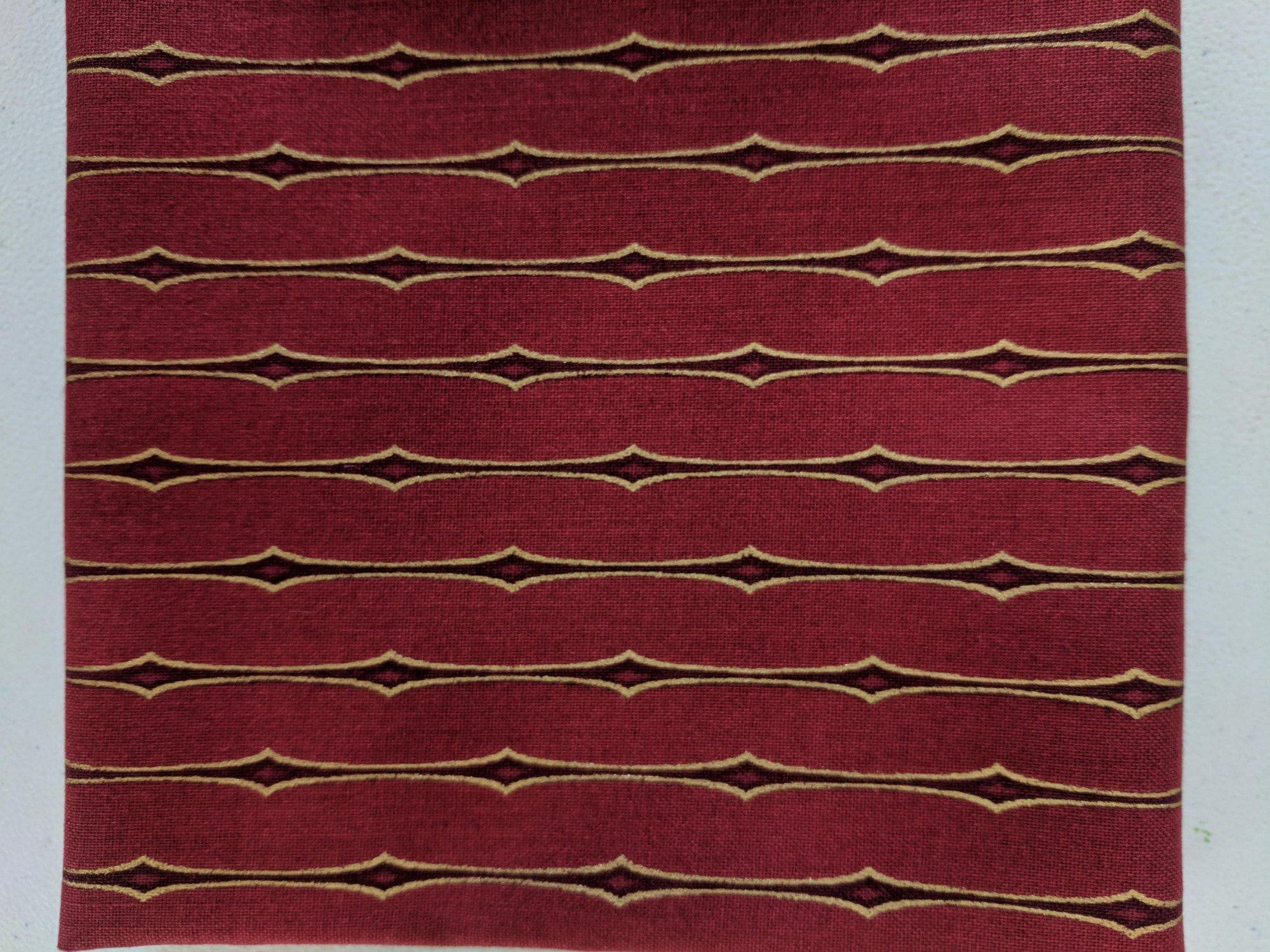 4594-410 Red w_ Metallic Stripe Amazing Stars