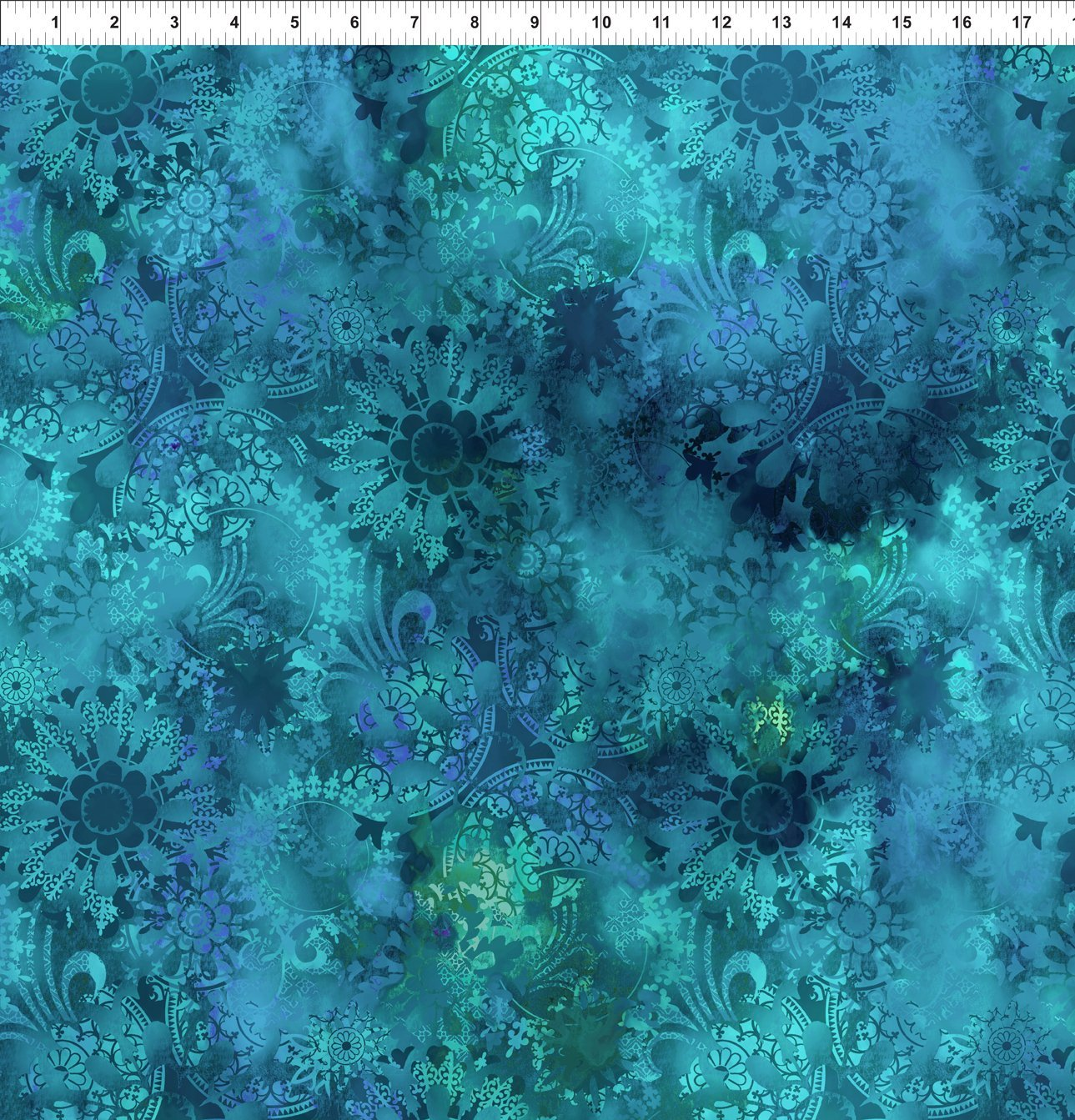 4ENC-1 Teal Mystic Lace Diaphanous