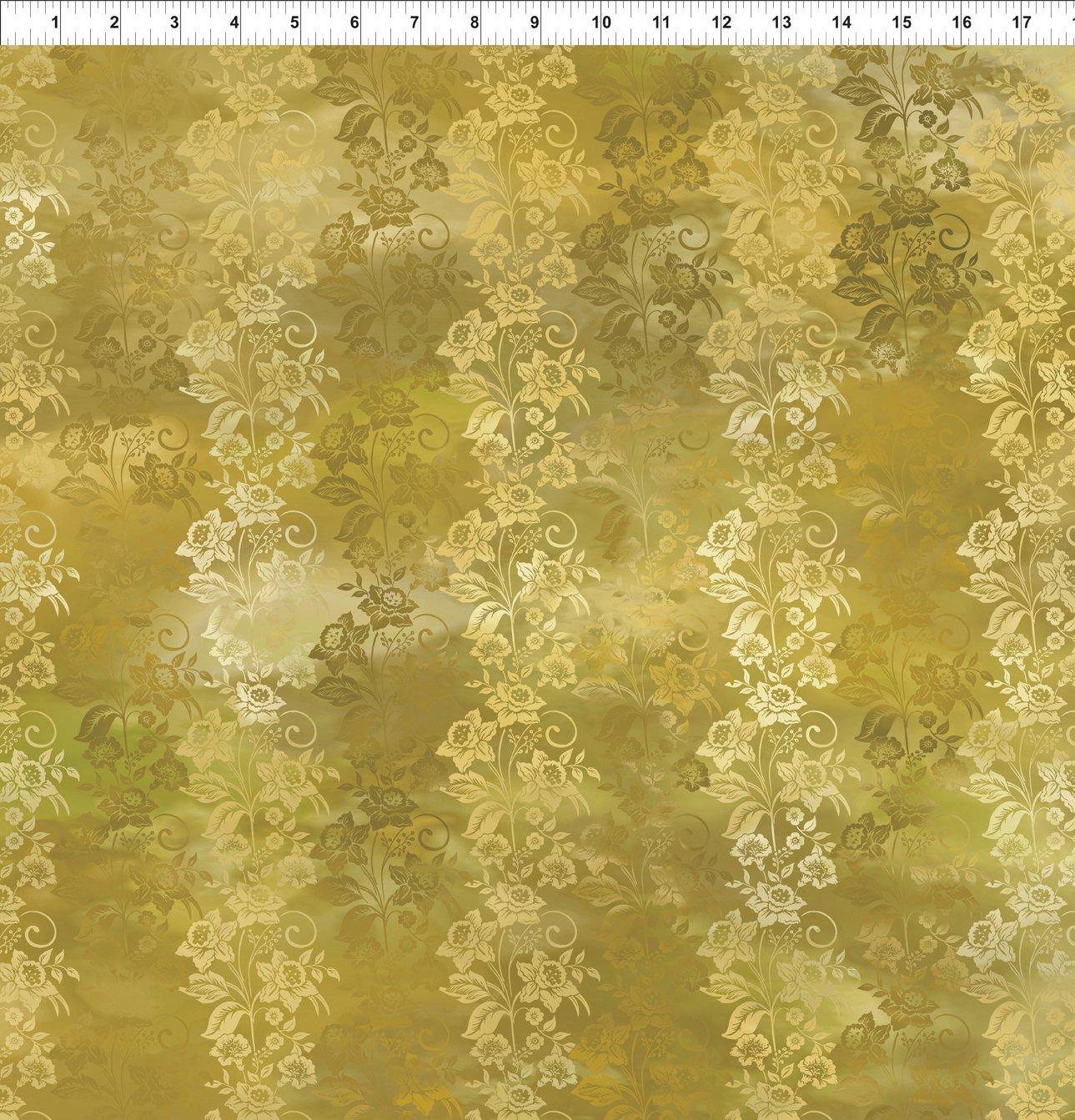 5ENC-2 Gold Enchanted Vines Diaphanous