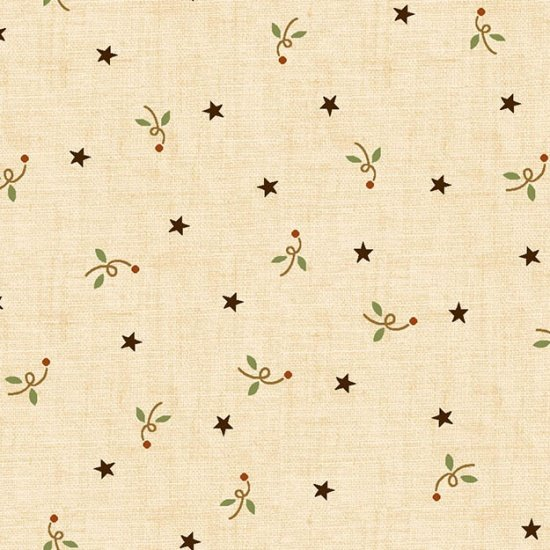 6286-44 Cream w_Stars Butter Churn by Kim Diehl