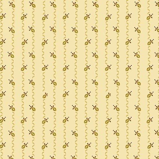 6558-44 Cream w_Ribbon Stripes Butter Churn Basics New by Kim Diehl